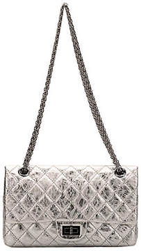 One Kings Lane Vintage Chanel Silver Medium Reissue Double Flap - Vintage Lux