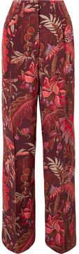 Etro Printed Silk Wide-leg Pants - Pink