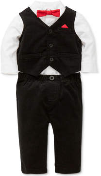 Little Me 3-Pc. Vest, Shirt Bodysuit & Pants Set, Baby Boys (0-24 months)
