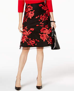 ECI Embroidered A-Line Skirt