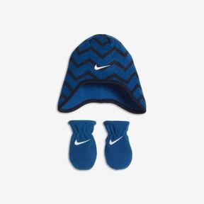 Nike Pattern Play Two-Piece Infant Beanie And Mittens Set