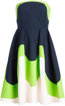 DELPOZO Strapless Dress in Cotton