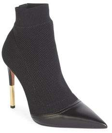 Balmain Aurore Stretch Point Toe Booties