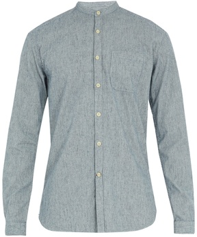 Oliver Spencer Grandad-collar striped cotton shirt