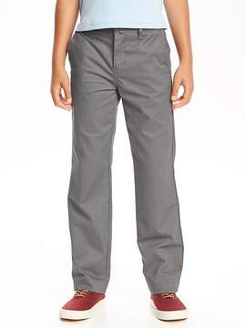 Old Navy Flat-Front Straight Uniform Khakis for Boys