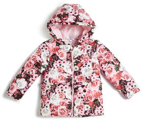 GUESS Floral Puffer Jacket (0-24m)