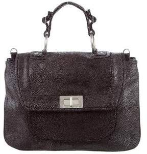 Rebecca Minkoff Embossed Covet Satchel - BLACK - STYLE