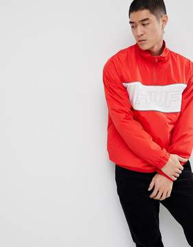 HUF Stadium 1/2 Zip Track Jacket With Reflective Piping In Red