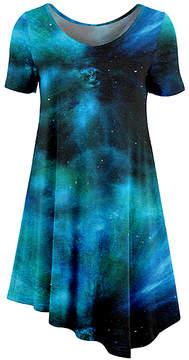 Azalea Blue & Black Galaxy Crewneck Tunic - Women