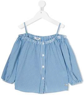MSGM striped Bardot blouse