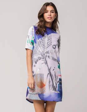 adidas Floral Mock Neck Dress