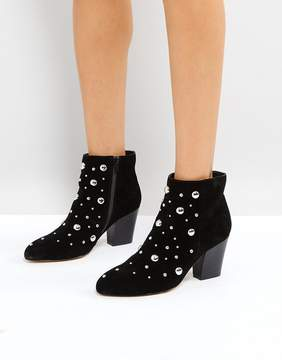 Office Able Leather Studded Boots