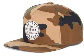 Herschel Men's Camo Snapback Baseball Cap - Brown