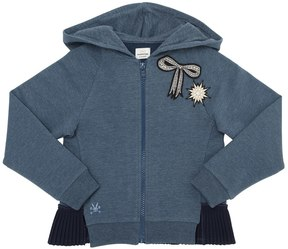 No Added Sugar Hooded Cotton Sweatshirt W/ Patches