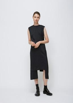 Aalto Black / White Long Dress