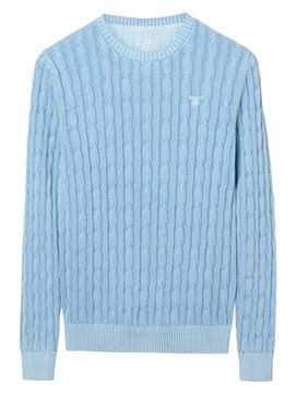 Gant Men's Light Blue Cotton Sweater.