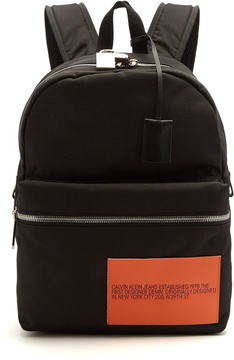 Calvin Klein Logo-patch nylon backpack