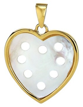 Asha Women's Small Mother-Of-Pearl Heart Charm