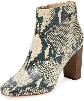 Pour La Victoire Women's Rickie Snake Leather High Heel Bootie