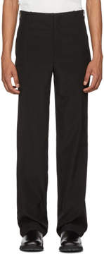 MACKINTOSH 0002 Black Vertical Seams Trousers