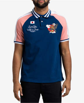 Hudson Nyc Men's Embroidered Colorblocked Polo
