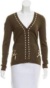 Christian Dior Cashmere & Silk-Blend Cardigan