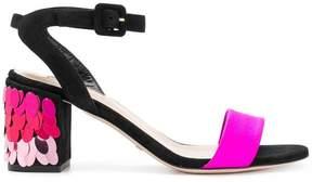 Sebastian sequinned heel sandals