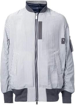 Sacai pinstriped bomber jacket