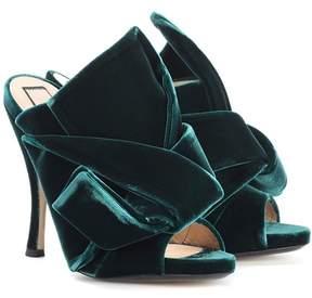N°21 Ronny 110 velvet sandals