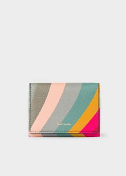 Paul Smith Women's 'Swirl' Print Leather Card Wallet