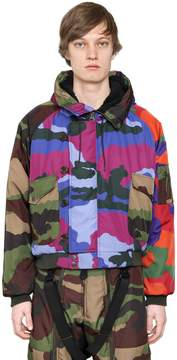 Moschino Camouflage Print Twill Bomber Jacket