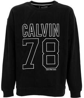 Calvin Klein Jeans Men's Black Cotton Sweatshirt.