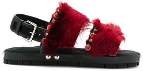 Marni Lama fur sandals