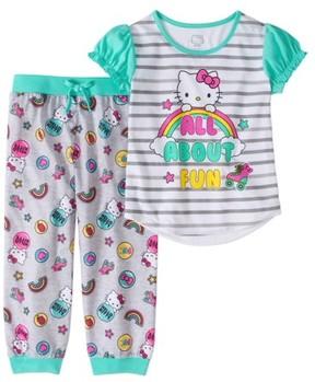 Hello Kitty Girls' 2pc Jogger Capri Pajama Set