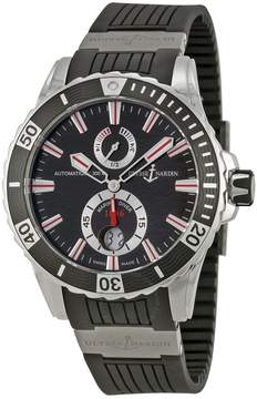 Ulysse Nardin Maxi Marine Diver Black Dial Black Rubber Men's Watch 263-10-3-92
