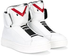Fendi Kids Monster hi-top sneakers