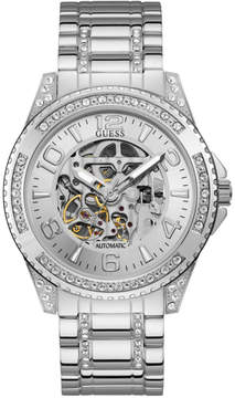 GUESS Silver-Tone Automatic Watch