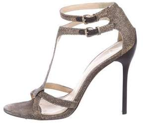 Brian Atwood Laetitia Metallic Sandals