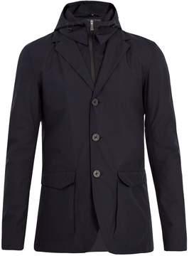 Herno Detachable-hood waterproof jacket