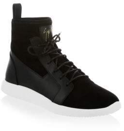 Giuseppe Zanotti Suede High Top Sneaker Boot