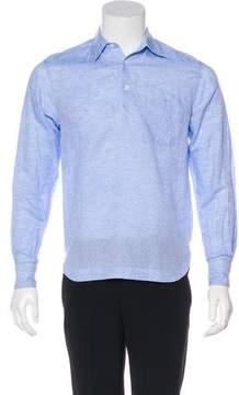 Barena Venezia Jacquard Linen-Blend Pop-Over Shirt
