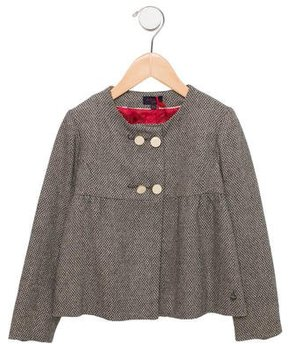 Paul Smith Girls' Metallic-Accented Double-Breasted Coat w/ Tags