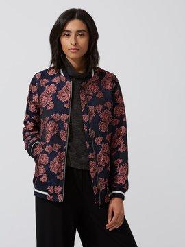 Frank and Oak Jacquard Floral Bomber Jacket