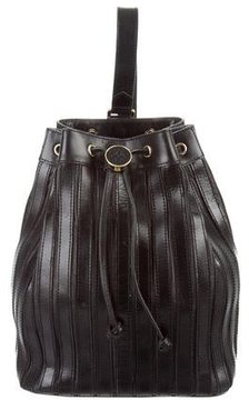 Tory Burch Leather Bucket Backpack - BLACK - STYLE