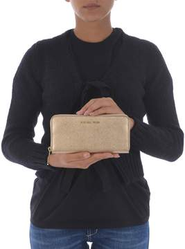 Michael Kors Jet Set Travel Zip Around Wallet - ORO - STYLE