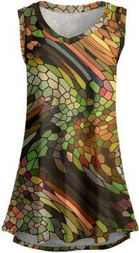Lily Green & Coral Abstract Sleeveless Tunic - Women & Plus