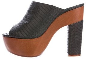 Alexa Wagner Snakeskin Platform Sandals