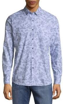Report Collection Floral Print Button-Down Shirt