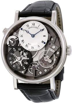 Breguet Tradition GMT Manual Silver Skeleton Dial Men's Watch