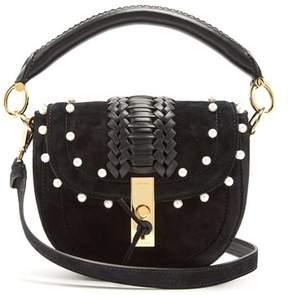 Altuzarra Ghianda Mini Braided Leather Suede Shoulder Bag - Womens - Black White